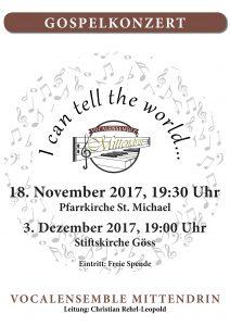 #DeineMusikschule.at #VocalensembleMittendrin, St.Michael, Gospelkonzert, #Icantelltheworld